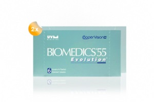Set 2x Biomedics 55 Evolution 6-Pack