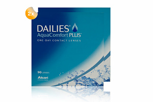 Set 2x Dailies Aqua Comfort Plus 90-Pack
