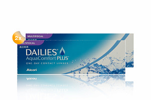 Set 2xDailies Aqua Comfort Plus Multifocal 30-Pack