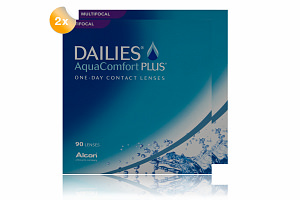 Set 2xDailies Aqua Comfort Plus Multifocal 90-Pack