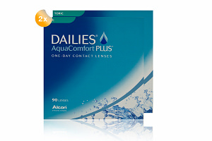 Set 2x Dailies Aqua Comfort Plus toric 90-Pack