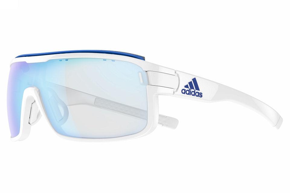 adidas Zonyk pro L Brille white shiny VARIO blue mirror ksuxy