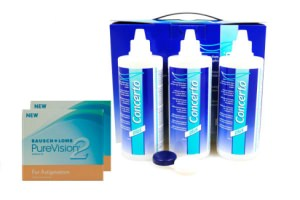 Set 2x Pure Vision 2HD Toric & Concerto 3x360 ml