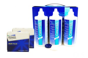 Set 2x Pure Vision Multifokal & Concerto 3x360 ml