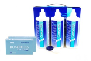 Set 2x Biomedics & Concerto 3x360 ml