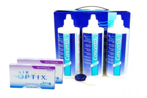 Set 2x Air optix Aqua Multifokal & Concerto 3x360 ml
