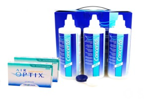Set 2x Air optix for Astigmatismus & Concerto 3x360 ml