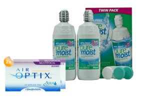Set 2x Air Optix Multifocal 6-Pack & Optifree Puremoist 2x300ml