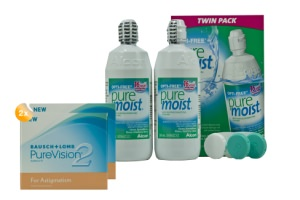 Set 2x Pure Vision 2HD & Optifree Puremoist 2x300ml
