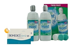 Set 2x Biomedics Toric XR & Optifree Puremoist 2x300ml