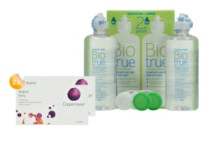Set 2x Avaira Toric 6-Pack & Biotrue  2x360 ml