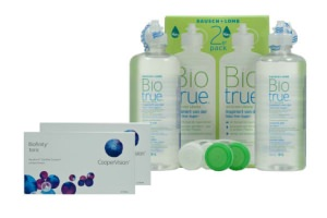 Set 2x Biofinity Toric 6Pack  & Biotrue 2x300ml