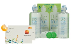 Set 2x Proclear Toric 6-Pack & Biotrue 2x300ml