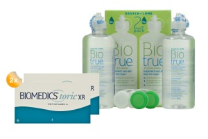 Set 2x Biomedics Toric XR & Biotrue 2x300ml