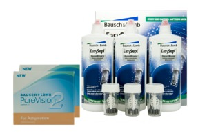 Set 2x Pure Vision 2HD Toric & Easysept Multipack