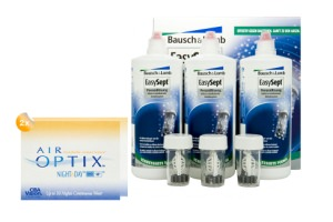 Set 2x Air Optix Night & Day & Easysept Multipack