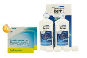 Set 2x PureVision2 for Presbyopia & Renu Multiplus Twinpack