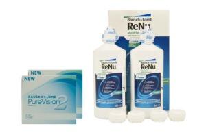 Set 2x Pure Vision 2 & Renu Multiplus Twinpack