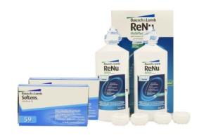 Set 2x Soflens 59 & Renu Multiplus Twinbox