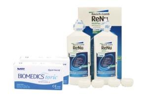 Set 2x Biomedics Toric & Renu Multiplus Twinbox