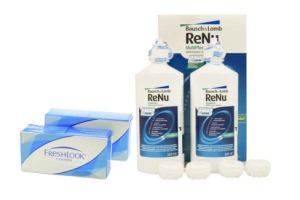 Set 2x Freshlook Colors & Renu Multiplus Twinbox