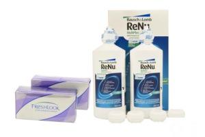 Set 2x Freshlook Colorblends & Renu Multiplus Twinbox