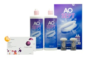 Set 2x Avaira Toric & Aosept 2x360ml