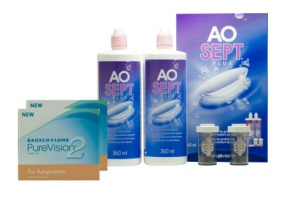 Set 2x Pure Vision 2HD Toric & Aosept 2x360ml