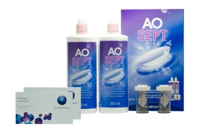 Set 2x Biofinity Toric 6Pack & AO Sept 2x360ml