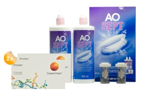 Set 2x Proclear spheric & Aosept 2x360ml
