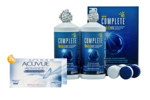 Set 2x Acuvue Advance for Astigmatism & Complete 2x300 ml
