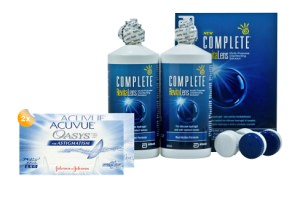 Set 2x Acuvue Oasys for Astigmatism & Complete 2x300 ml